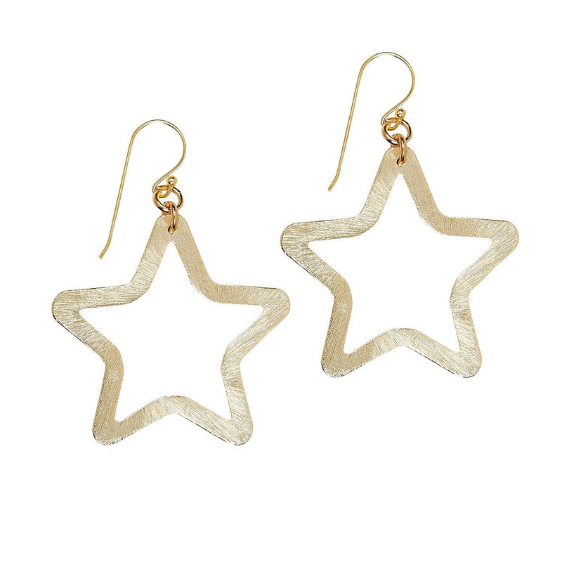 Gold Star Earrings - dolly mama boutique