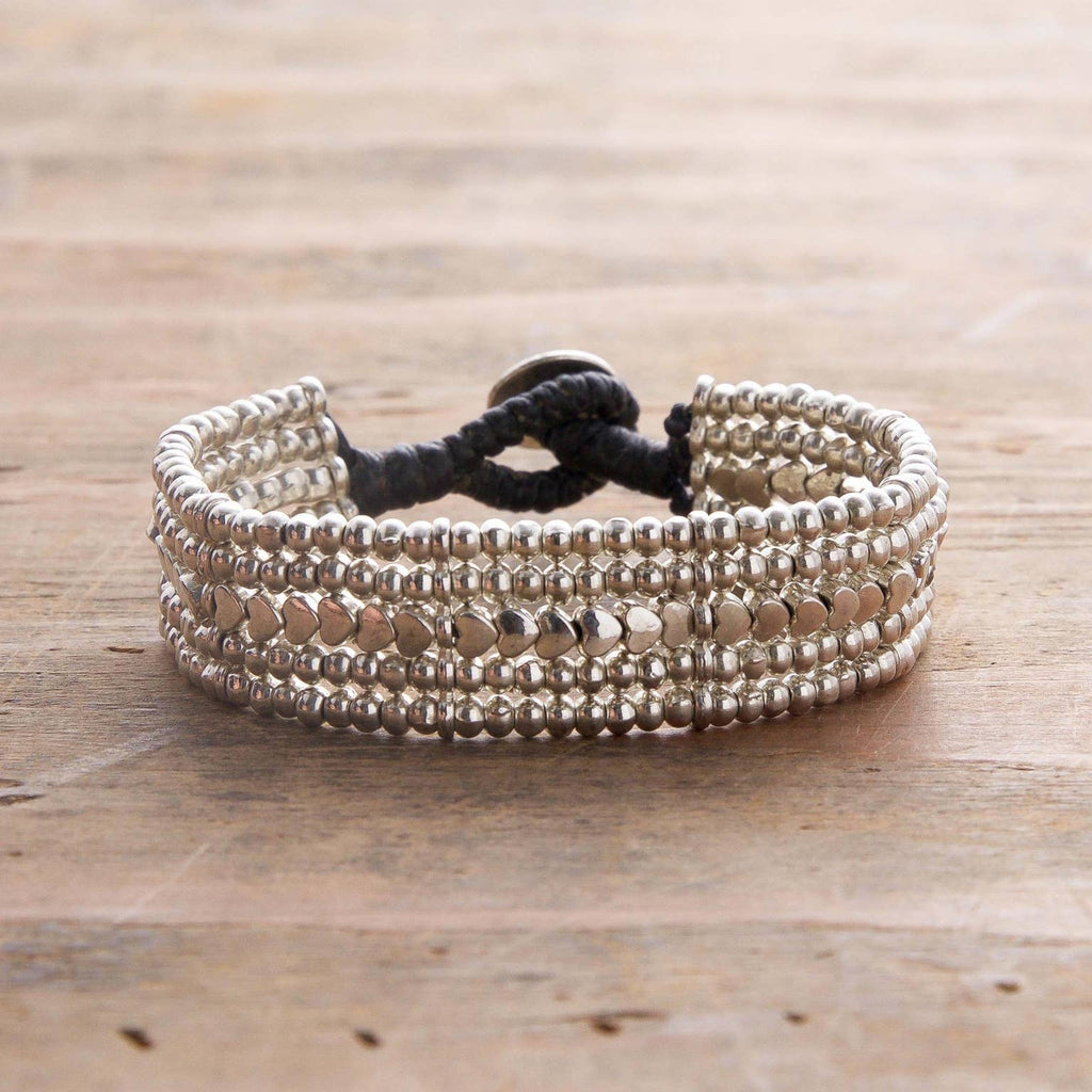 Single Row Heart Bracelet - dolly mama boutique