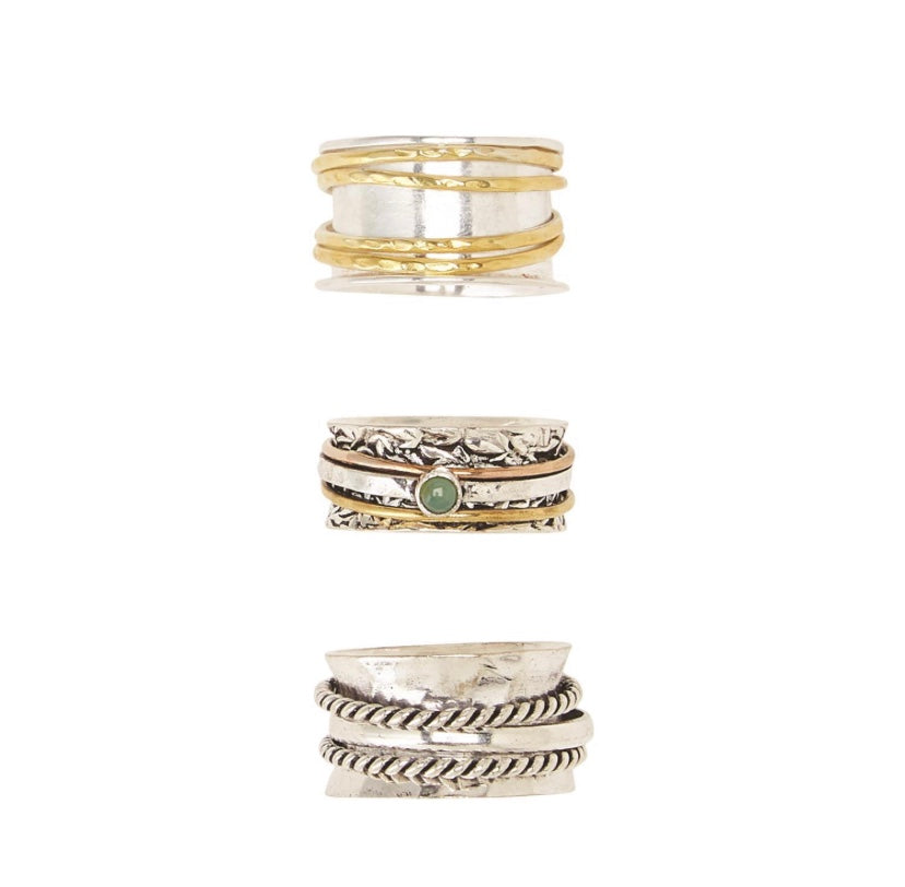 Rotating Metal Rings - dolly mama boutique