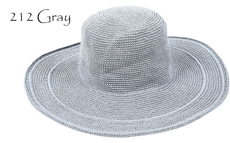 Crochet Wide Brim Hat - dolly mama boutique
