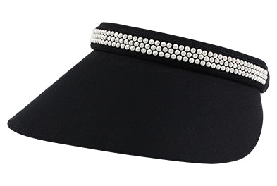 Jackie-O Visor with Pearls - dolly mama boutique