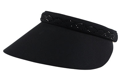 Coco Clip-On Visor, Crystal Chain