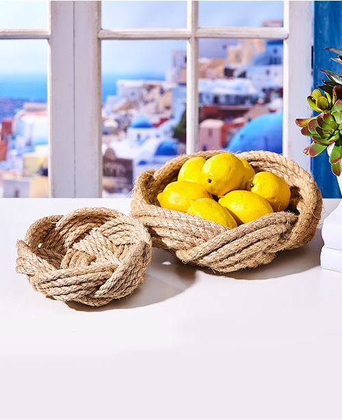 Hand Woven Rope Bowl - dolly mama boutique