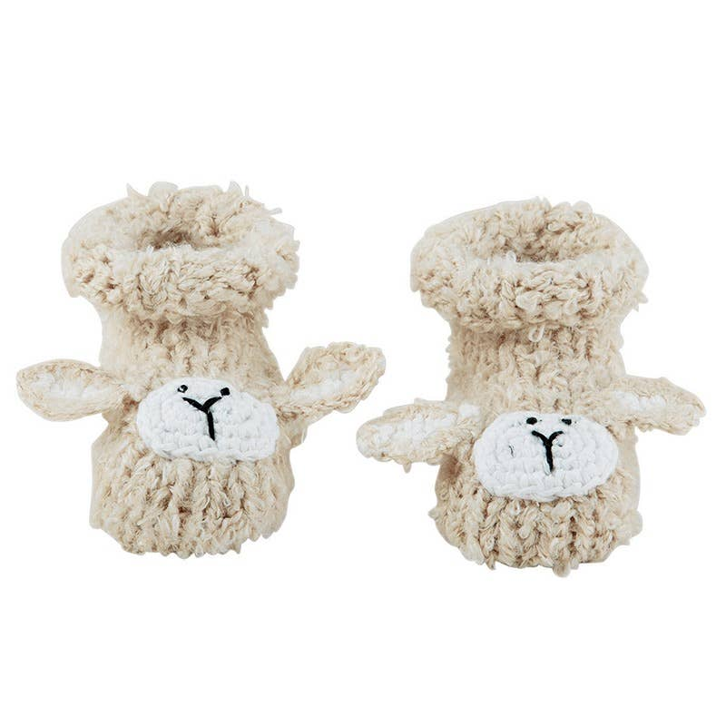 Cream Bunnie Knit Booties - dolly mama boutique