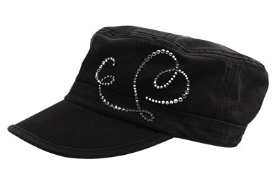 Cameron Military Cap, Dolly Mama Heart - dolly mama boutique