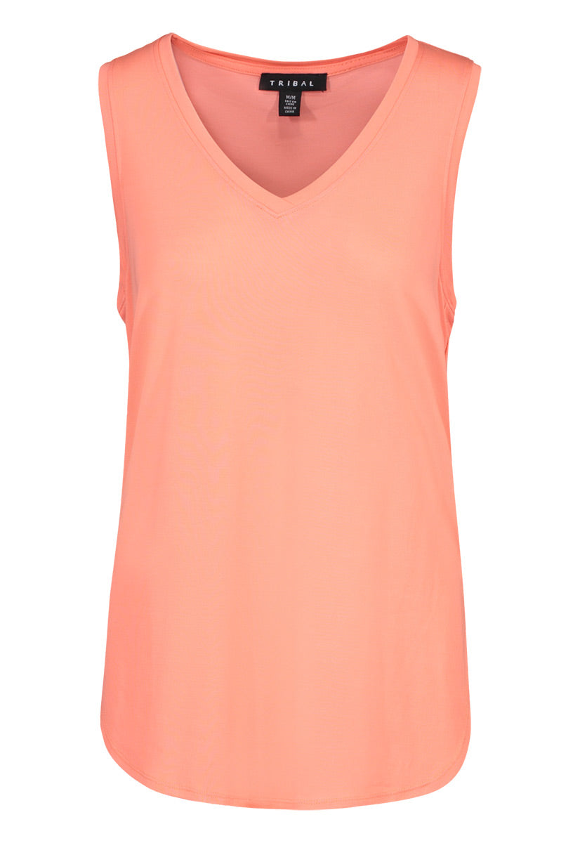 Soft V Neck Tank - dolly mama boutique