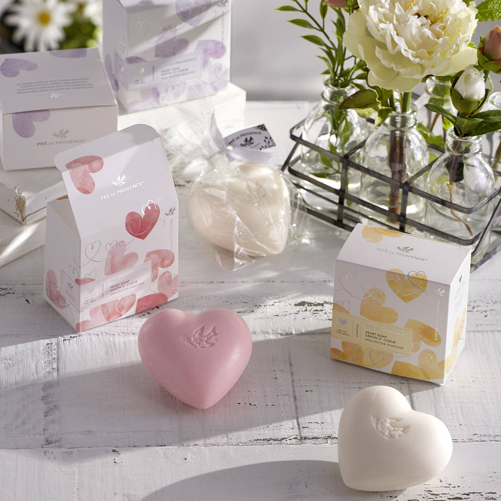 Heart Soap Gift Box - Tea Rose - dolly mama boutique