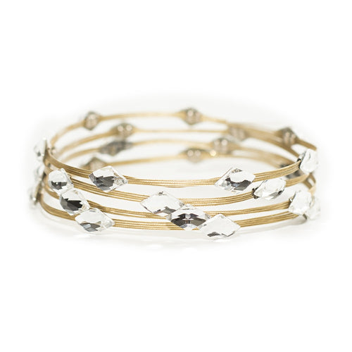 Seasonal Whispers Clear Diamond/Gold Bracelet