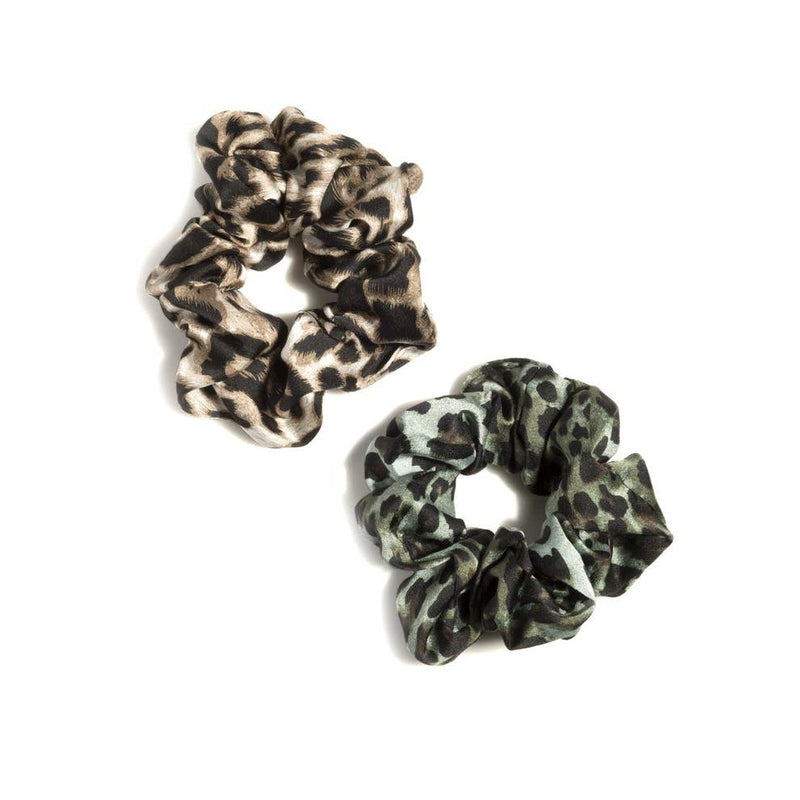 Leopard Scrunchies - Assorted Set of 2 - dolly mama boutique