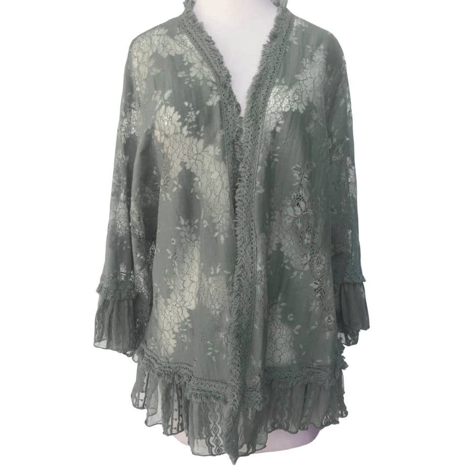 Hera Jacket Sage - dolly mama boutique