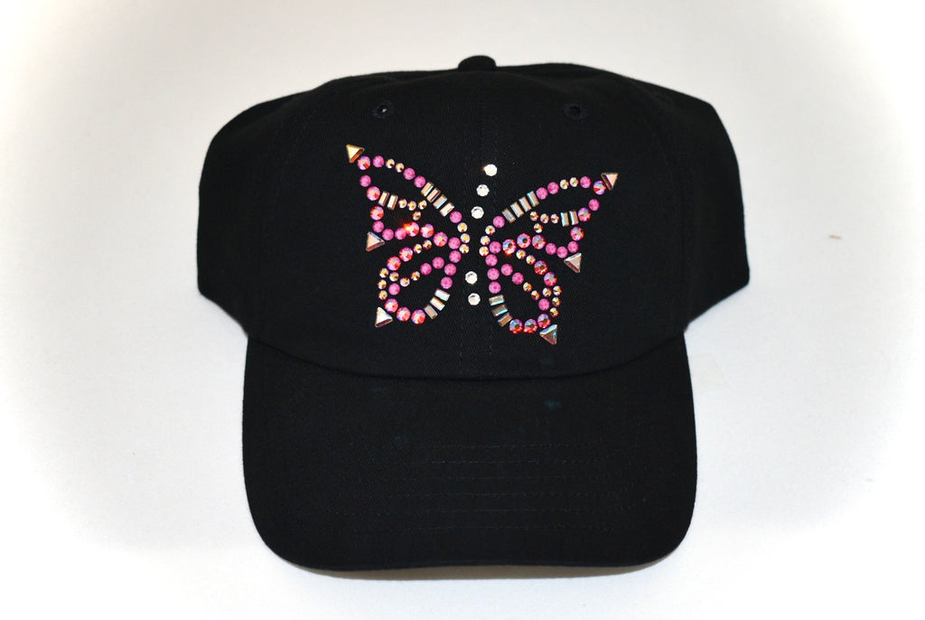 Rachel Baseball Hat, Butterfly - dolly mama boutique