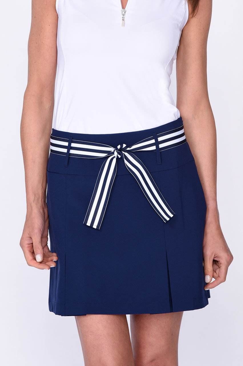 Blind Date Performance Skort - Navy
