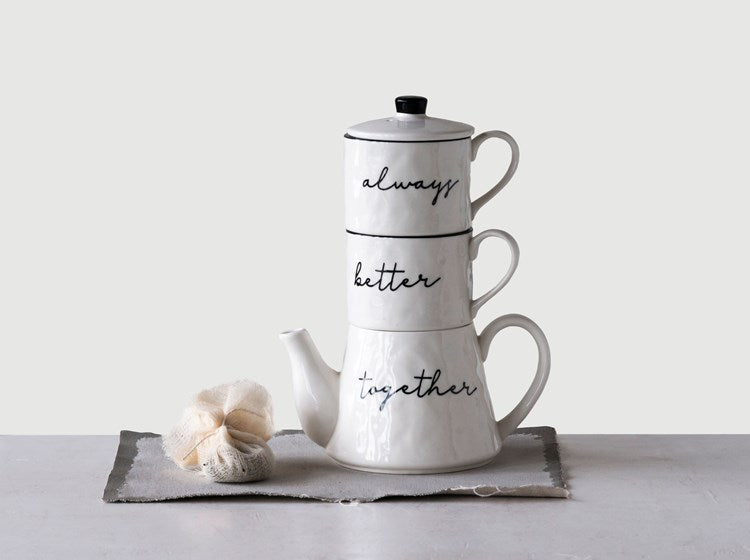 Stackable Tea Set - dolly mama boutique