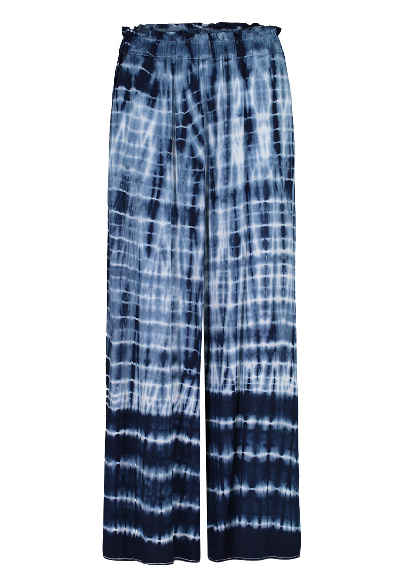 Tie Dye Pants with Side Slit - dolly mama boutique