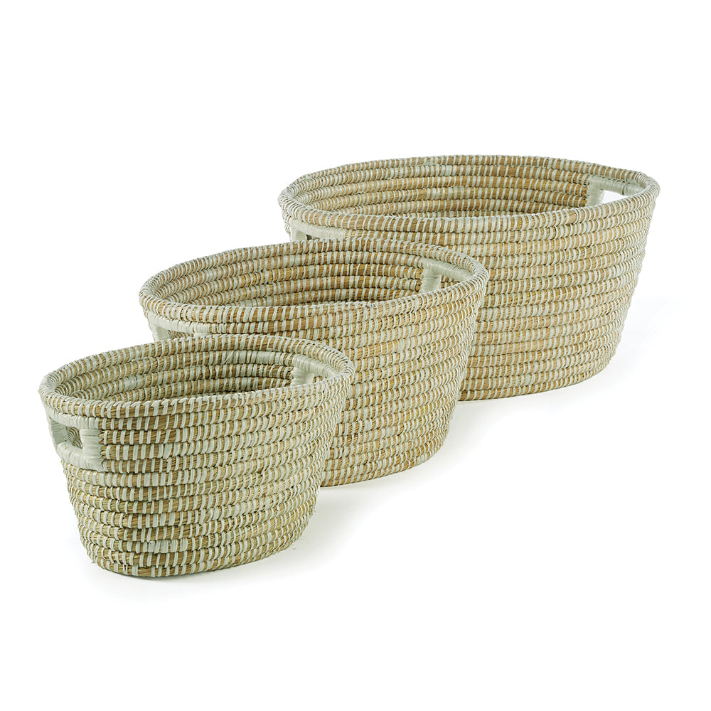 Oval Rivergrass Basket - dolly mama boutique