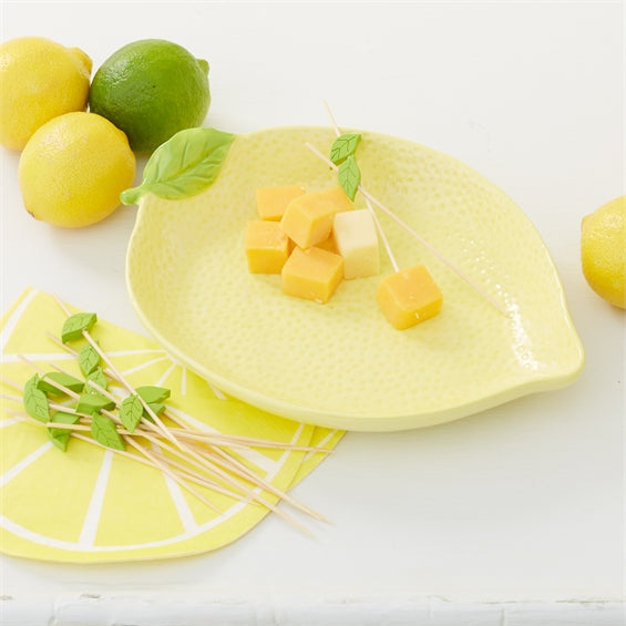 Two's Company Lemon Appetizer Plate with Picks - dolly mama boutique
