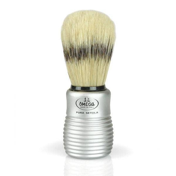 Boar Bristle Shave Brush with Aluminum Handle - dolly mama boutique