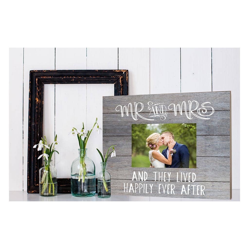 Mr. And Mrs. Gray Shiplap Picture Frame - dolly mama boutique