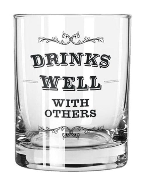 Rocks Glass - Drinks Well With Others - dolly mama boutique