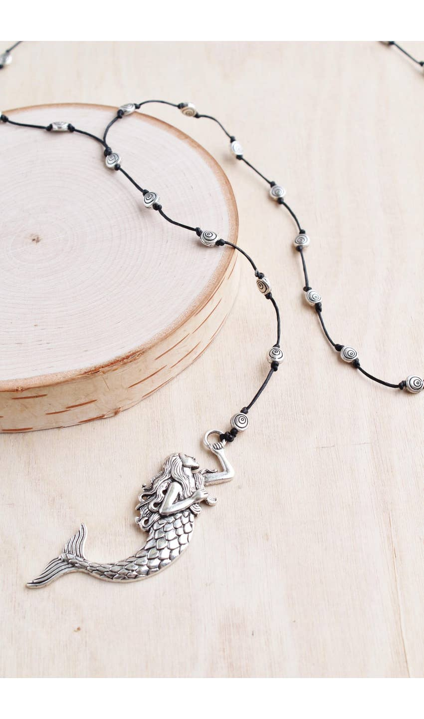 Silver Mermaid Alloy Necklace