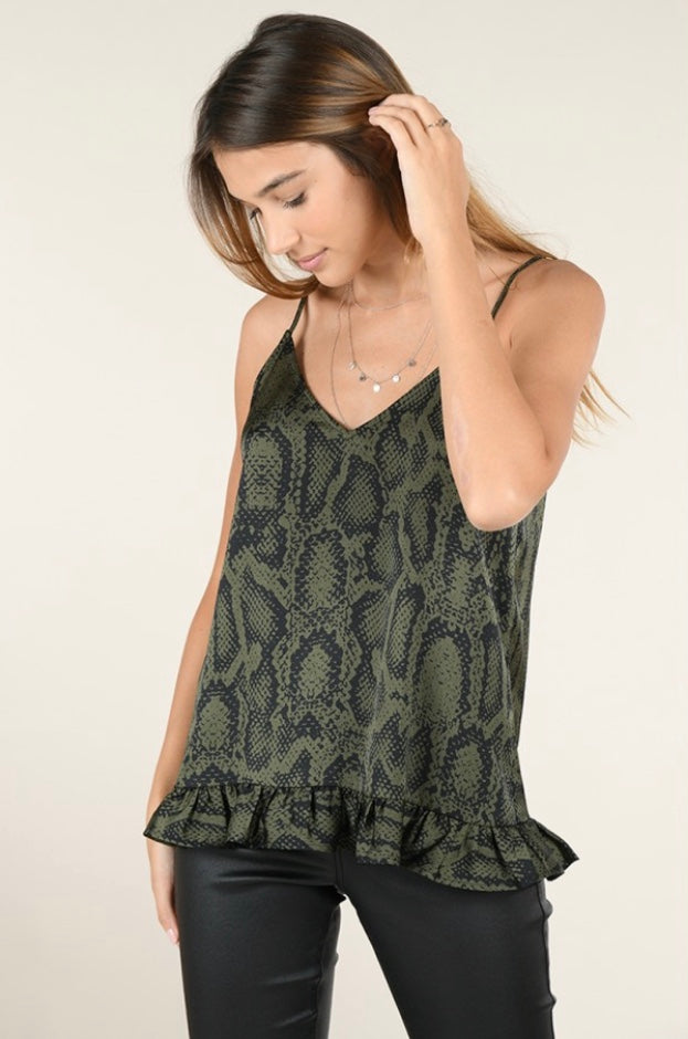 Snake Skin Camisole - dolly mama boutique