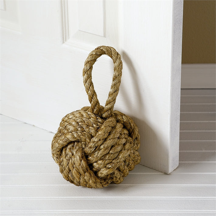 Two's Company Jute Knot Door Stopper - dolly mama boutique