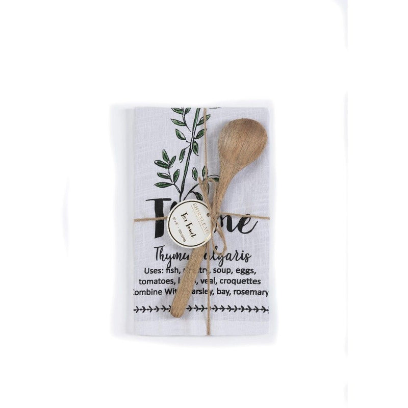 Thyme Tea Towel - dolly mama boutique