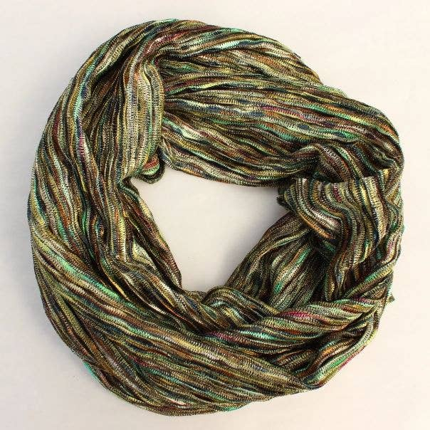 Multicolored Knit Infinity Scarf - dolly mama boutique