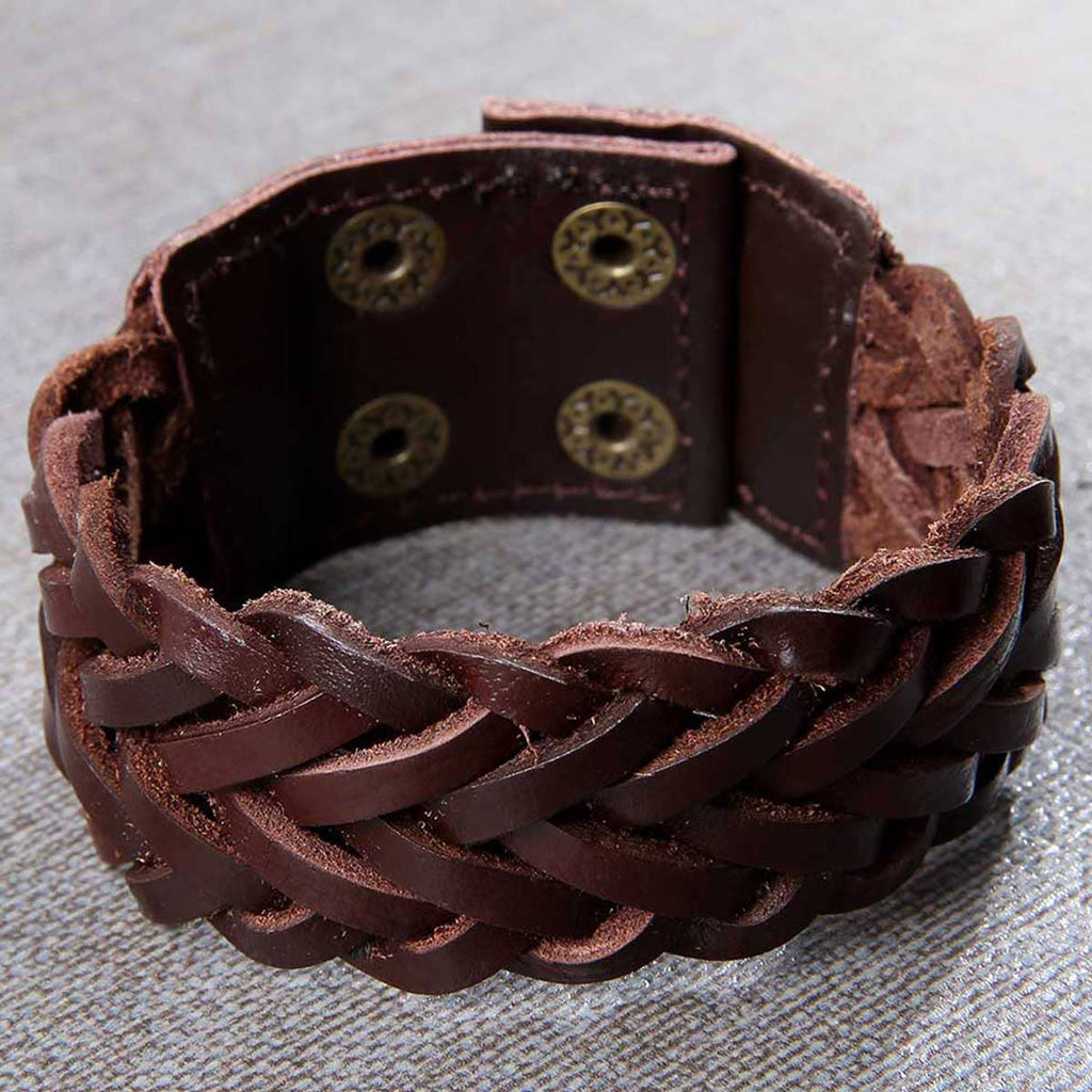 Men's Distressed Wide Bracelet