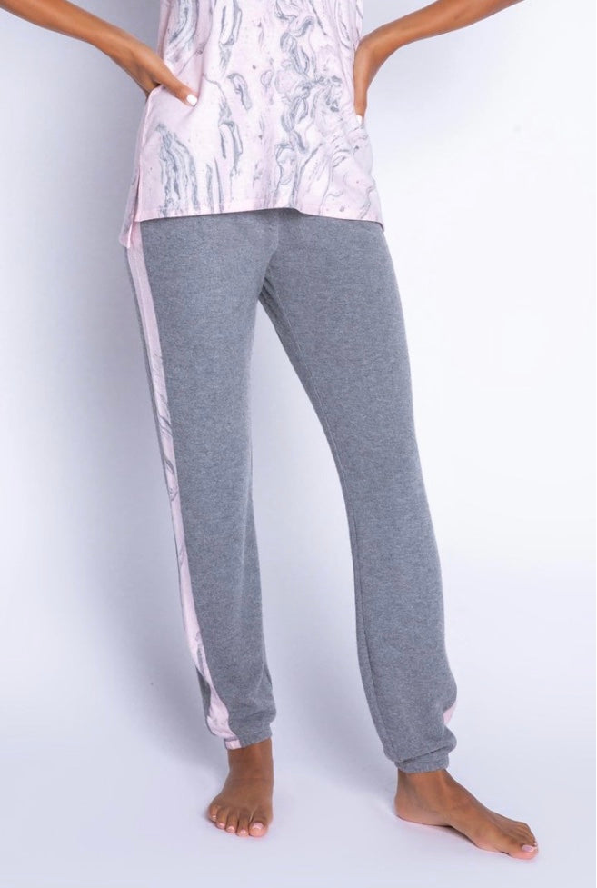 Marvelous Marble Banded Pant - dolly mama boutique
