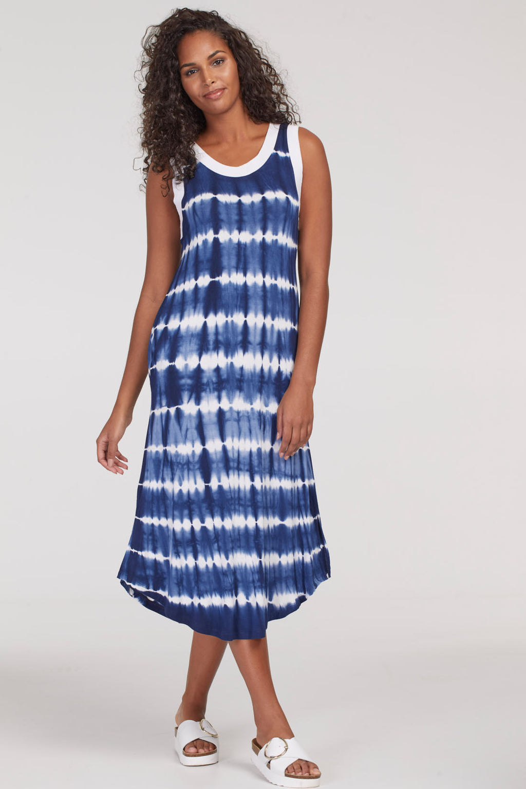 Sleeveless Tie Dye Jersey Dress - dolly mama boutique