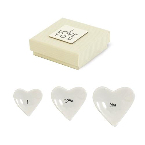 Stacking Heart Trinket Trays ~ 3 set - dolly mama boutique