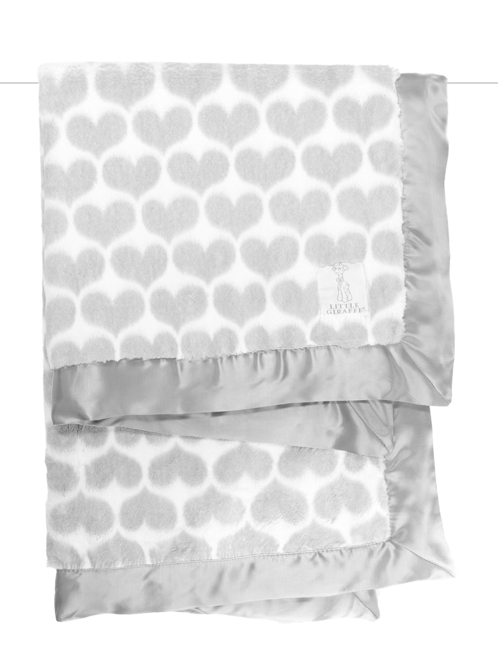 Luxe Heart Army Blanket Silver - dolly mama boutique