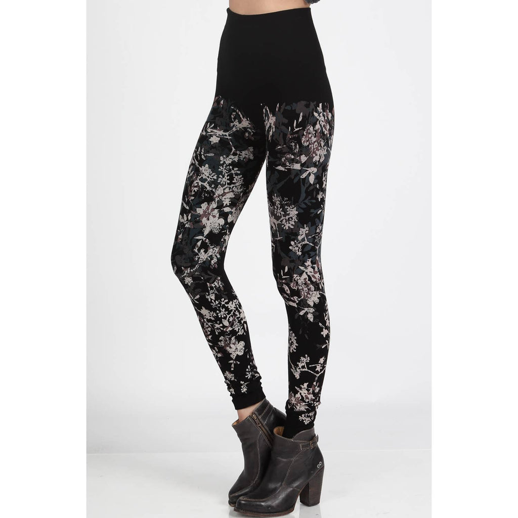 High Waist Leggings with Floral Print