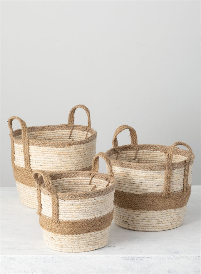 Natural Woven Baskets - dolly mama boutique