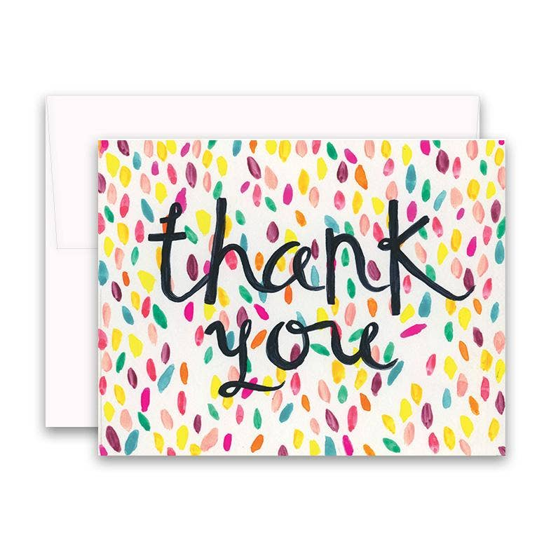 Confetti Thank You Boxed Notes - dolly mama boutique