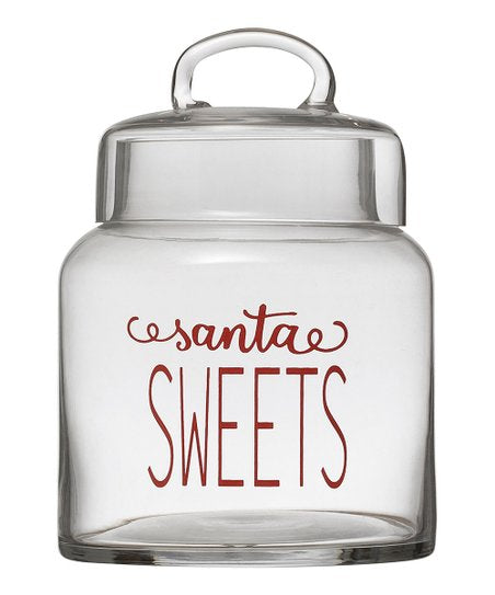 Santa's Sweets Glass Jar - dolly mama boutique