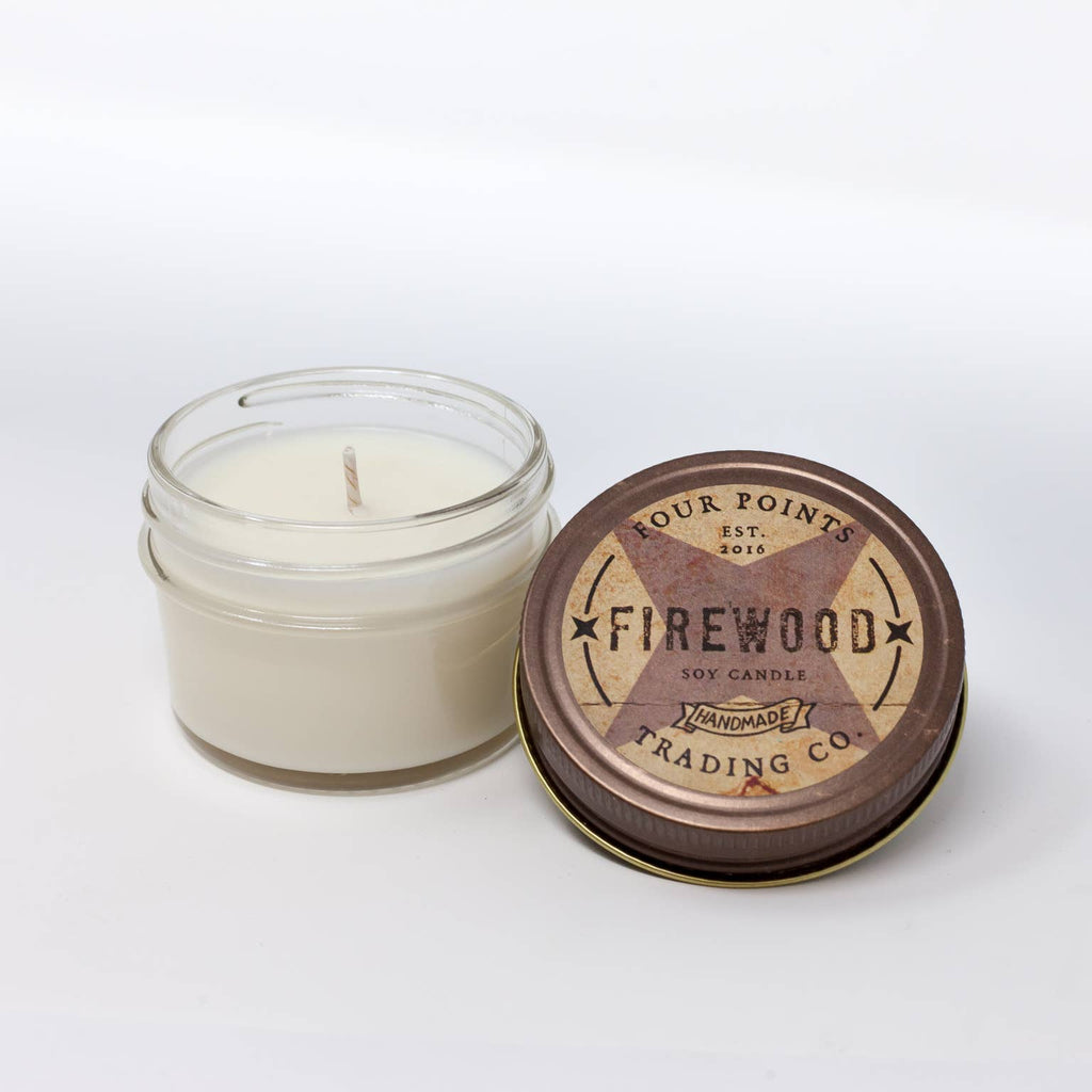 Firewood 4 oz Soy Candle - dolly mama boutique