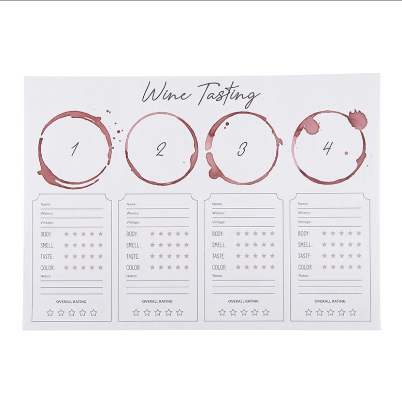 Wine Tasting Placemat - dolly mama boutique