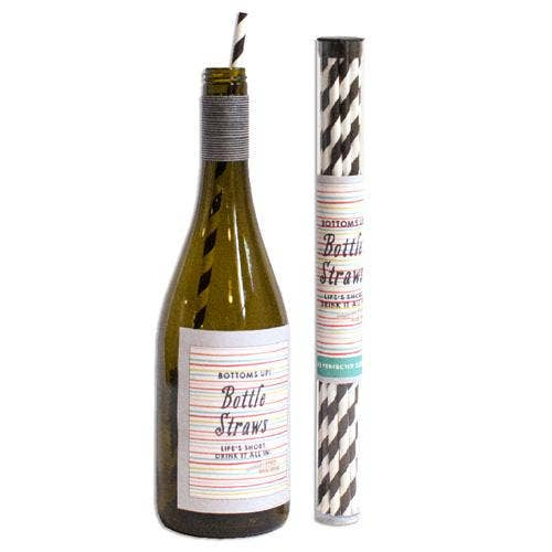 Happy 60th Wine Bottle Straws - dolly mama boutique