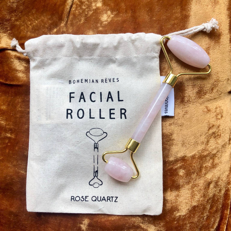 Rose Quarts Facial Roller - dolly mama boutique