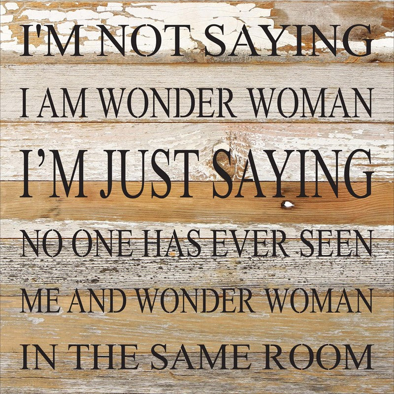 Wonder Woman Sign 10 x 10 - dolly mama boutique