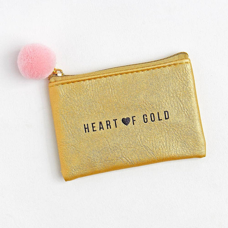 Heart of Gold Pouch - dolly mama boutique