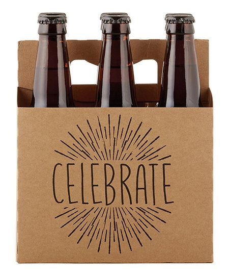 "Brown 'Celebrate"" Beer Carrier - dolly mama boutique"