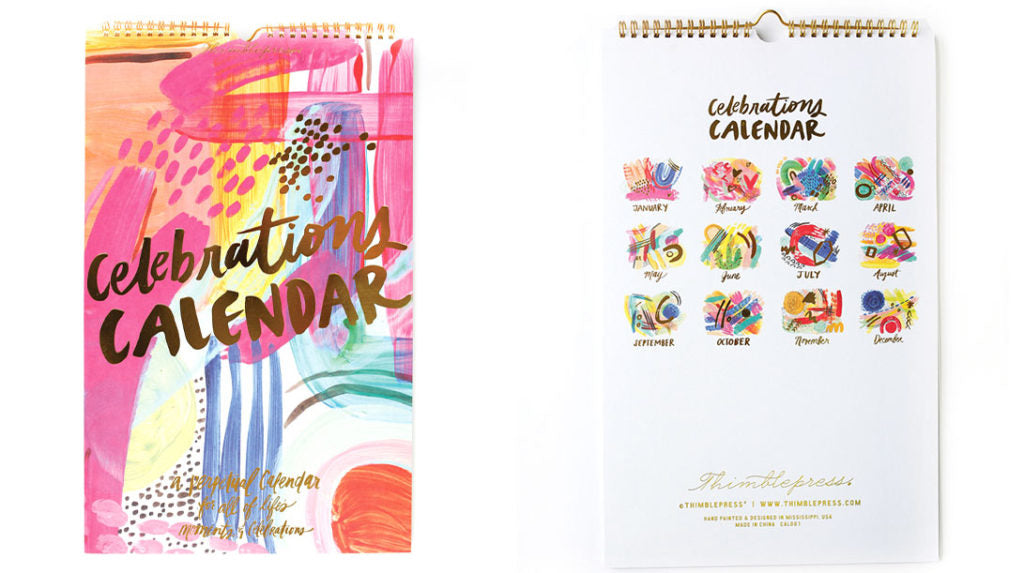 Celebrations Calendar - dolly mama boutique