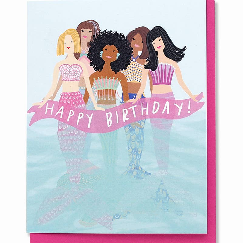 Mermaids Birthday Card - dolly mama boutique