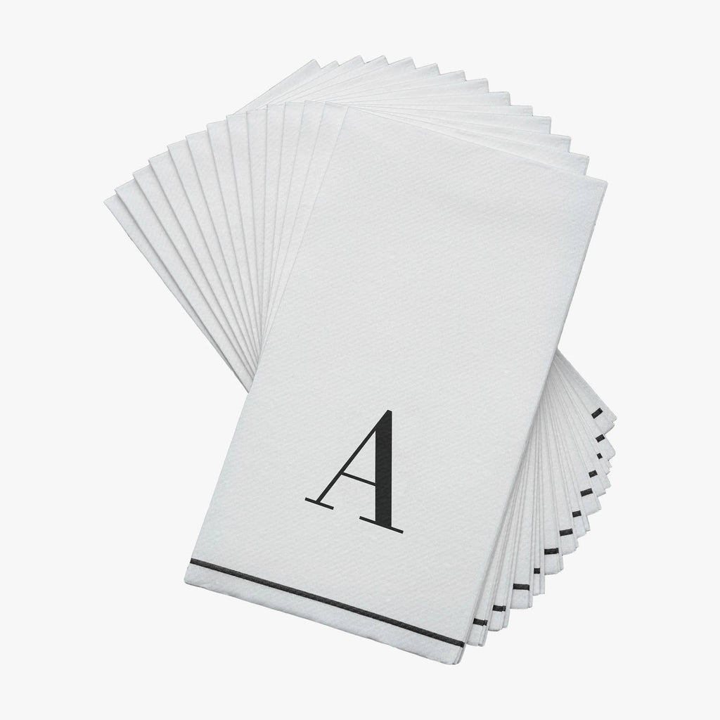 Single Initial Paper Guest Towel Napkins - dolly mama boutique