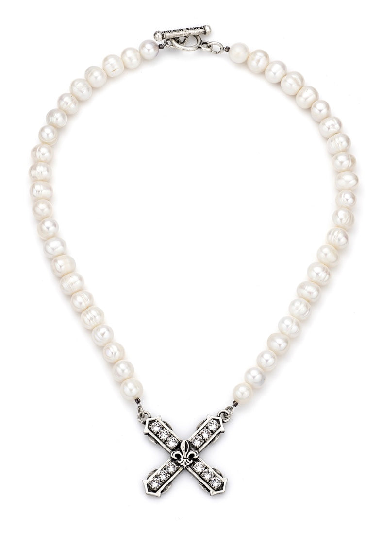 Pearls with Swarovski French Kiss - dolly mama boutique