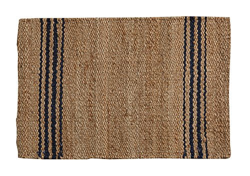 Jute Stripped Rug - dolly mama boutique