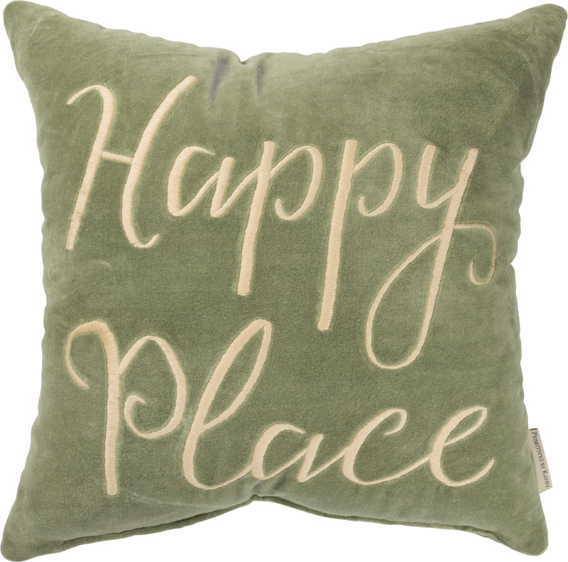 Happy Place Pillow - dolly mama boutique